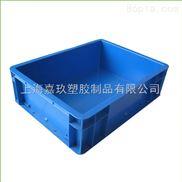 欧标加厚上海塑料PP塑料物流箱带盖防尘周转箱